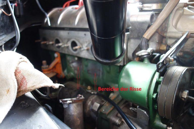 Motorblock im eingebauten Zustand Laserschweißen