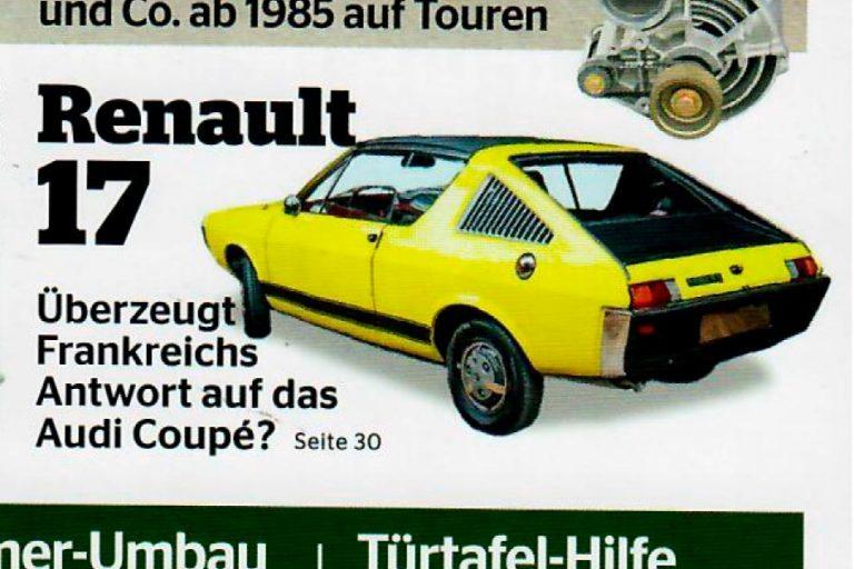 Renault 17 TL Découvrable in der Auto Classic