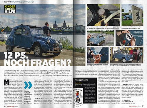 Helfen und Gewinnen und eine Fahrt mit 12 PS von Berlin nach Mainz